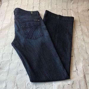 7 For All Mankind Dojo Flare Leg Trouser Jeans 32
